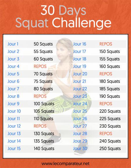 détails du programme 30 days squat challenge