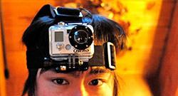Caméra fixée sur votre tête