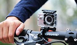 Caméra embarquée sur un vélo
