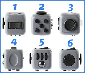 Les 6 côtés d'un fidget cube