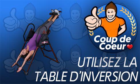 Étirez votre dos et colonne avec la table à inversion