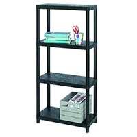 Allibert 17189801 Étagère en plastique avec 4 étagères Capacité de charge par étagère 25 kg / 100 kg
