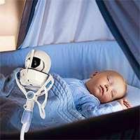 Support de caméra universel pour bébé - Support de moniteur pour bébé Joseche,support de moniteur vidéo pour bébé et étagère - Support de caméra flexible