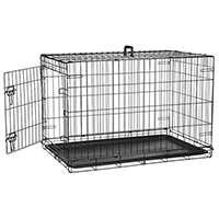 AmazonBasics Cage pliante en métal avec 1 porte pour chien Taille M