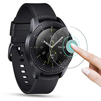 OMOTON [3 Pièces] Film pour Samsung Galaxy Watch 42 mm 2018 Vitre Verre Trempé Protection D'écran 2.5D Film Protecteur [9 H]