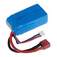Goolsky Batterie rechargeable de 7.4V 1500mAh LiPo pour WLtoys A959-B A979-B Buggy Car
