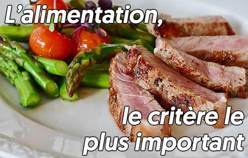 l'alimentation est responsable d'au moins 80% des résultats