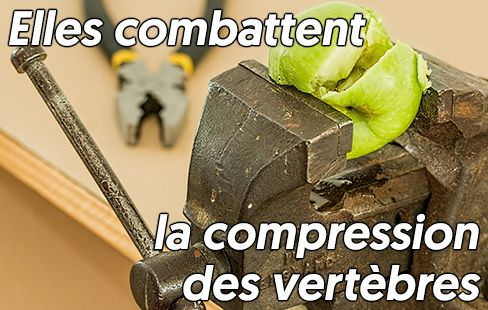 L'inversion combat la compression des vertèbres