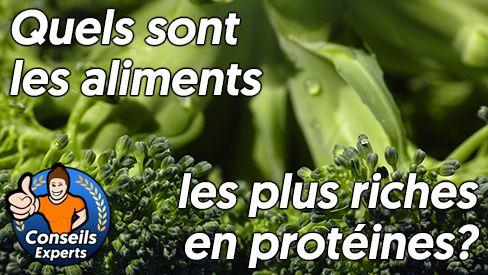 Quels sont les aliments les plus riches en protéines?