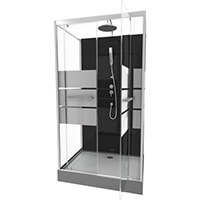 Avis sur Cabine de douche rectangle 110x80x225cm - SCRATCHY 110